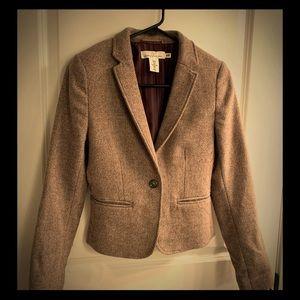 H&M L.O.G.G. Single button Wool Tweed Blazer